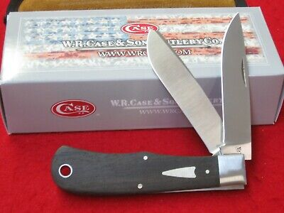 NICE 2019 CASE XX #10366 TONY BOSE EBONY BULLNOSE TRAPPER KNIFE W/ BOX
