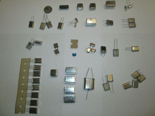 CRYSTALS & OSCILLATORS ASSORTMENT  25 TYPES,  47 PCS.  NOS