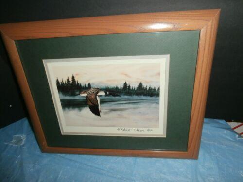 Robert C Niles Lyndon VT Wildlife Art Print Flying Goose 1990