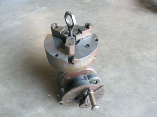 "USED Dividing Head with Cushman 8"" Chuck & Indexing Plate (KM)"