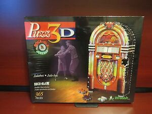 Jukebox, 365 Piece 3D Jigsaw Puzzle Made by Wrebbit  NEW
