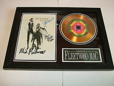 FLEETWOOD MAC   SIGNED FRAMED GOLD CD  DISC   44