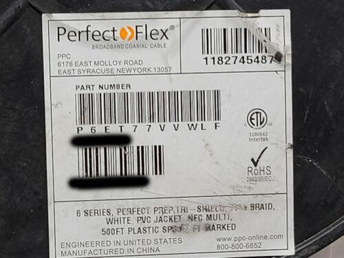 PPC Belden P6ET77VVWLF RG6 3GHz Tri-Shield Coaxial Video Cable RG-6 White /100ft