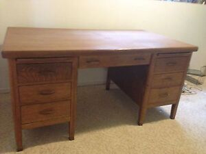Teachers oak desk
