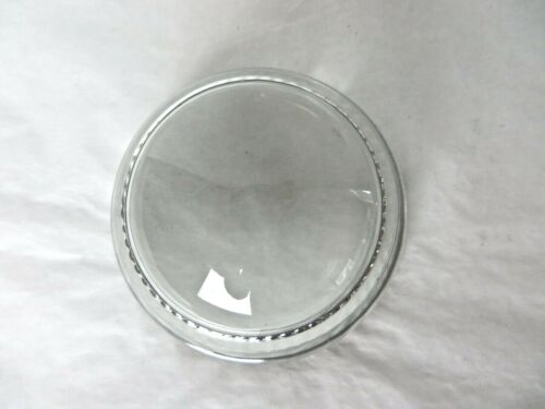 """Vintage Blank Decorative Glass Paperweight Photo Holder 3"""" Round Dome  #10649"""