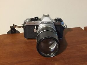 Pentax ME Super SLR Camera with Soligor 135 mm f2.8 Lens