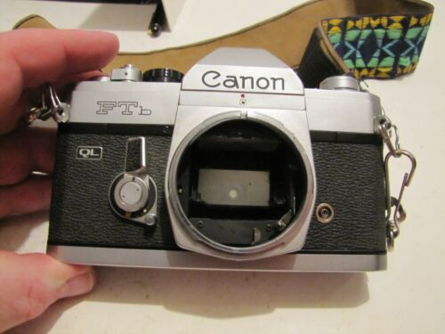 VINTAGE CANON FTB QL 35MM SLR FILM CAMERA BODY ONLY WORKS