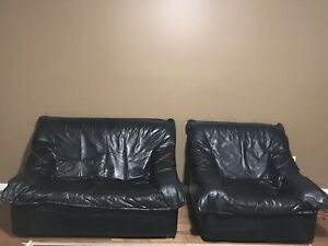 Leather Loveseat and armchair 2 PC set