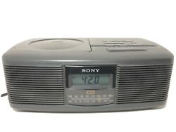 Sony ICF-CD810 Stereo Dual Alarm Clock Radio CD Player AM/FM TESTED WORKING