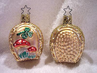 Lucky Charm,Horseshoe,Old World Christmas,Inge-Glas,Blown Glass,Germany,Retired