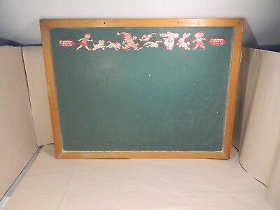 Vintage ATF TOYS Child's Green & Black Chalkboard 25 x 19 in Original Wood Frame