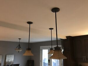 Pendant lights and Chandelier