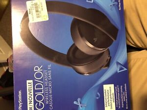 Sony gold headphones PS4