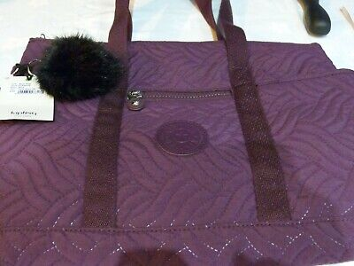 KIPLING ALIZA QUILT TOTE BAG AND POUCH NEW TAGGED