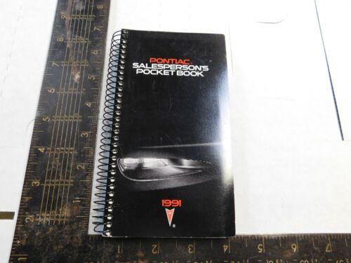 1991 PONTIAC SALESMAN POCKET BOOKLET  ALL MODELS   B