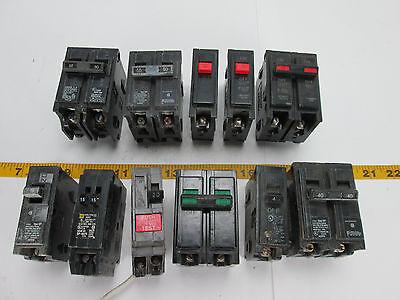 Lot Of Circuit Breakers Singles Doubles Ge Bryant Siemens 20 40 50 60 T