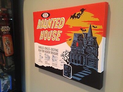 Halloween Canvas Print! Vintage IDEAL HAUNTED HOUSE Game Box Art! 16x20x1.25](Art X Halloween)