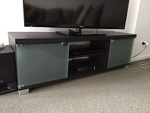 Tv cabinet with glass doors Canberra City North Canberra Preview