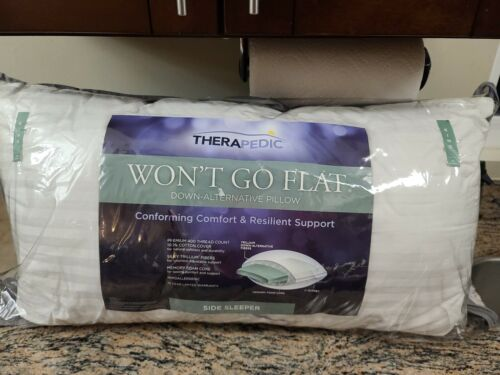 Therapedic Won't Go Flat King Side Sleeper Pillow