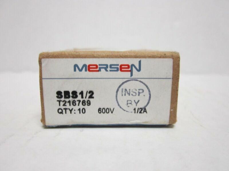Mersen SBS Fast-Acting Ferrule Fuse, 600VAC, 100kA, 1/2 Ampere