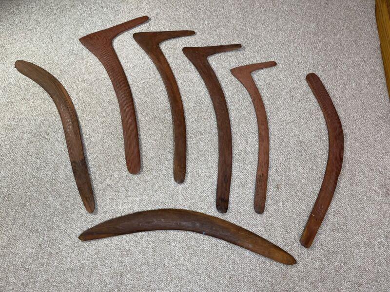 Aboriginal Hunting Boomerang No 7 Kylie Lot Rare Finds 7 Throw Sticks
