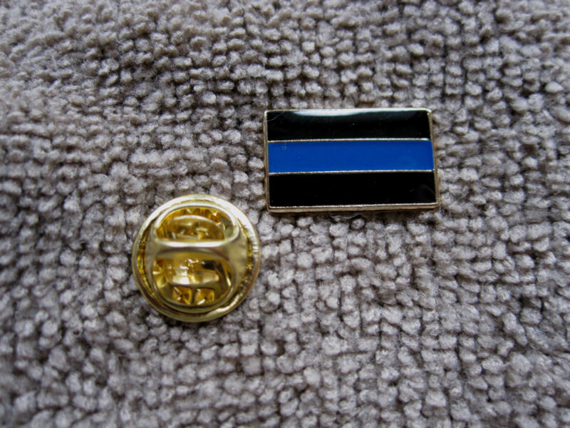 Thin Blue Line Cops  Lapel/Tie Tack Hat Pin TBL Police Pin TBL