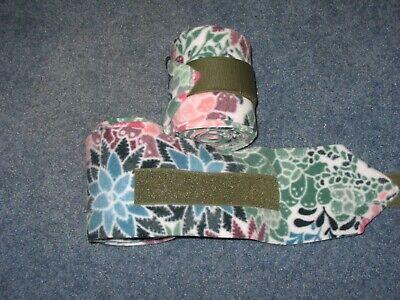 NEW set of 2 purple//grey camouflage//splatter polo wraps horse//pony leg wraps