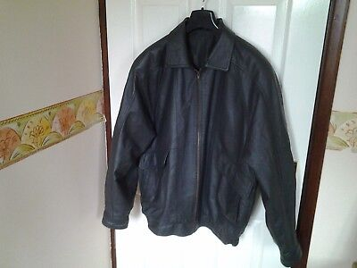 Grey Soft Real Leather Lined Jacket Size Medium  Chest 40 / 42 By Premier