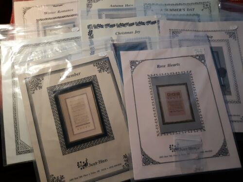 JUST NAN SAMPLER Cross Stitch Patterns First Designs from 1992!  -You Choose