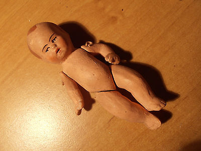 1 Antique German Baby Doll  Katzh Tte   Limbach 1900