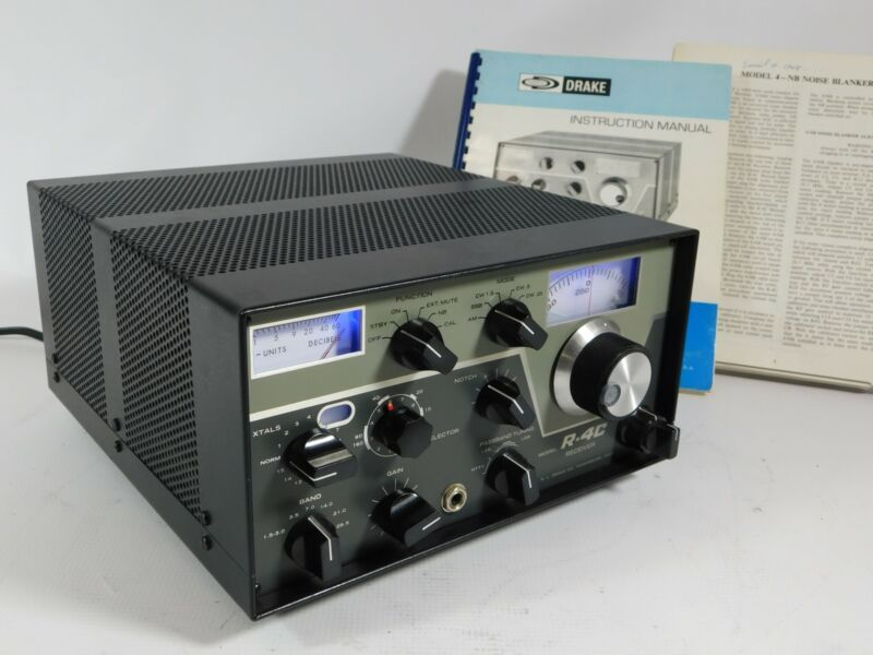 Drake R-4C Receiver w/ Sherwood Mods + Noise Blanker (A+ condition) SN 25035