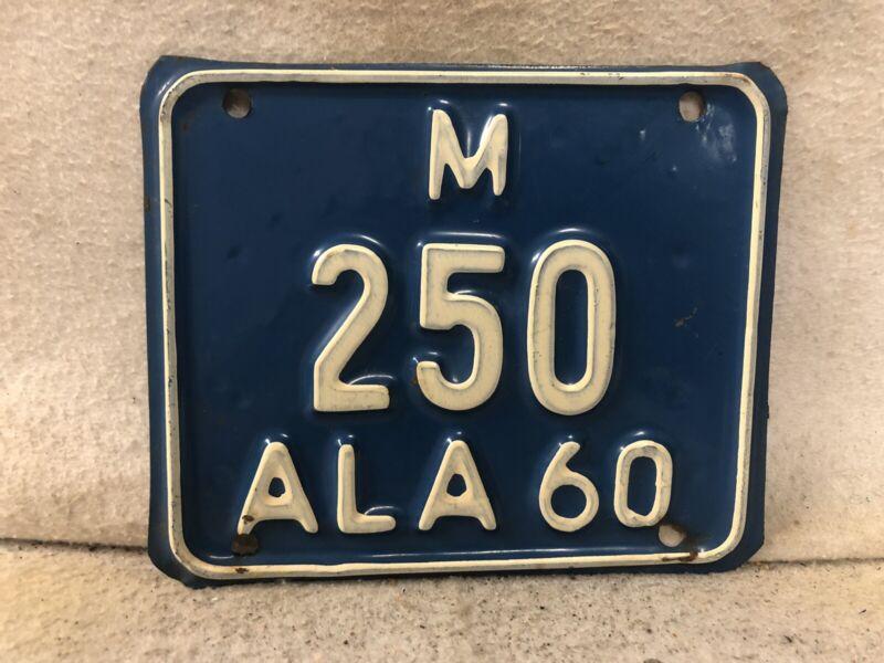 Vintage 1960 Alabama Motorcycle License Plate