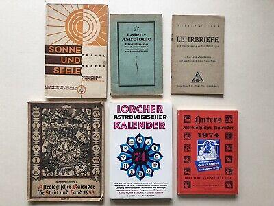 Konvolut Astrologie Bücher, sechs Stück, Astrologischer
