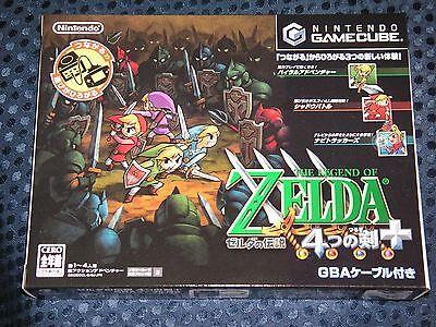 RARE! NEW GC LEGEND of ZELDA FOUR SWORDS Limited BOX w/ GBA cable GameCube JAPAN for sale  Shipping to Canada