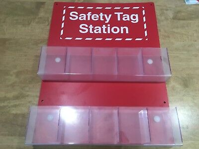 "Brady 81773 Safety Tag Station Information Center 22"" x 16.5"" Red & White"
