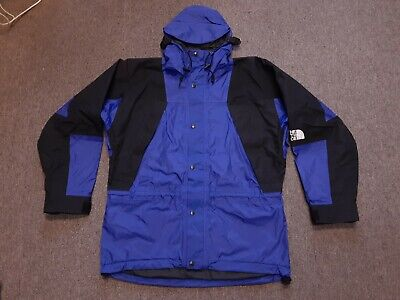NOS VTG 90s North Face Mountain Guide Gore-Tex Hooded Nylon Parka Jacket Blue M