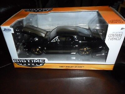1/24 Jada Toys Big Time Muscle 1967 Shelby GT-500 Black Diecast Car in Box