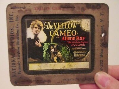 The Yellow Cameo  - Original 1928  Movie Glass Slide - Allene Ray