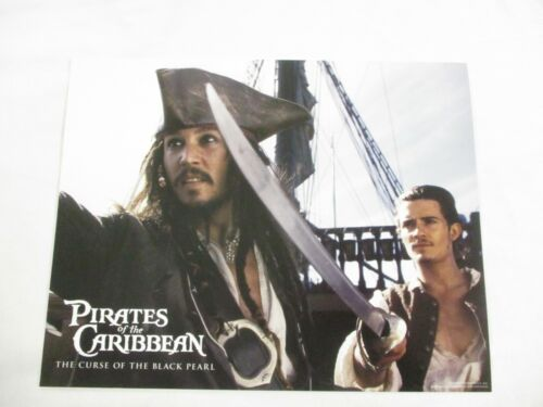 Complete Movie Lobby Card Set 2003 Pirates of the Caribbean Black Pearl Disney