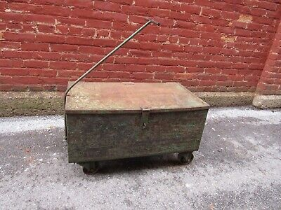 Vintage Industrial Heavy Duty Rolling Cart With Wheels - Old Gm Tool Cart