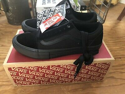 VANS Old Skool Pro Blackout Suede Skateboarding Shoe Men's 9