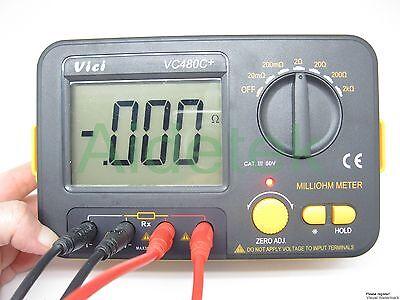 New Precision Milliohm Meters Vs Megger 4 Wire Kelvin Clip 0 Adjust La Lcd Ohm