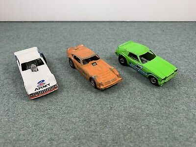 Lot of 3 Vintage Mattel  Hot Wheels Funny Cars used incomplete