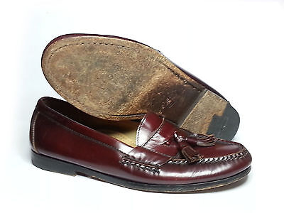 1212e2d64f69c Cole Haan Men Size 8.5 Leather Pinch Tasseled City Loafers Brown-Burgundy  Moc