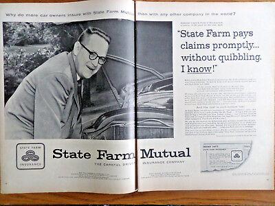 1956 State Farm Insurance Ad Salesman Lloyd S Pond Albuquerque New Mexico