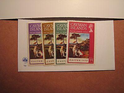 Cayman Islands Stamp Scott# 251-54 Easter 1970 MH P10