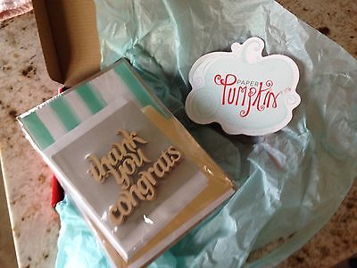 NEW  Stampin' Up Paper Pumpkin Thank You and Congratulations Cards.  Refill