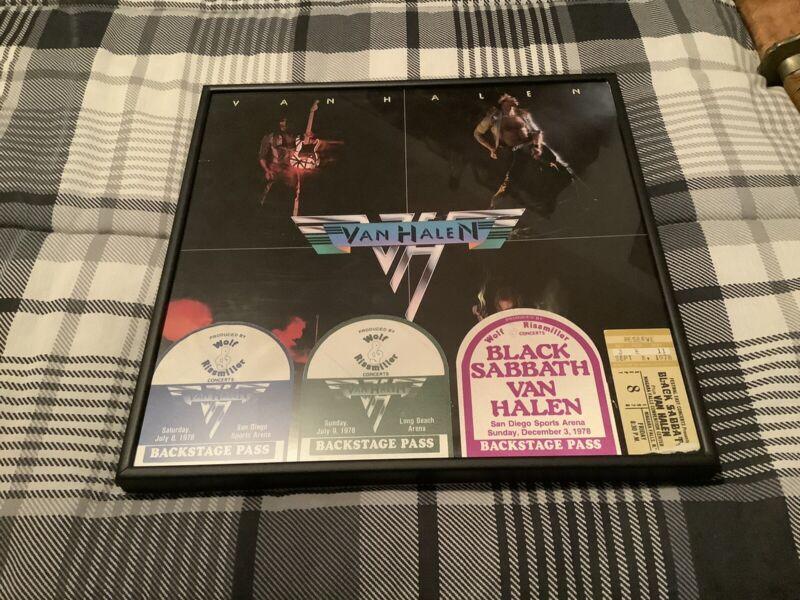 Van Halen Backstage Pass & Ticket Stub (8 Pages Of Photo Copies)