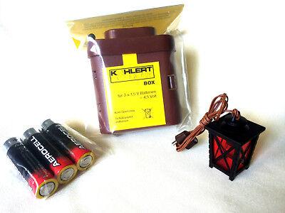 Batterie-Set 6, Krippenbeleuchtung, LED Laterne, Krippenzubehör, Krippenelektrik