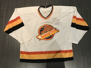 Autographed CCM Vancouver Canucks Hockey Jersey